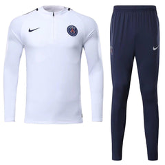 Paris Saint-Germain 17/18 White Pre-Match Tracksuit Tracksuit TNT Soccer Shop