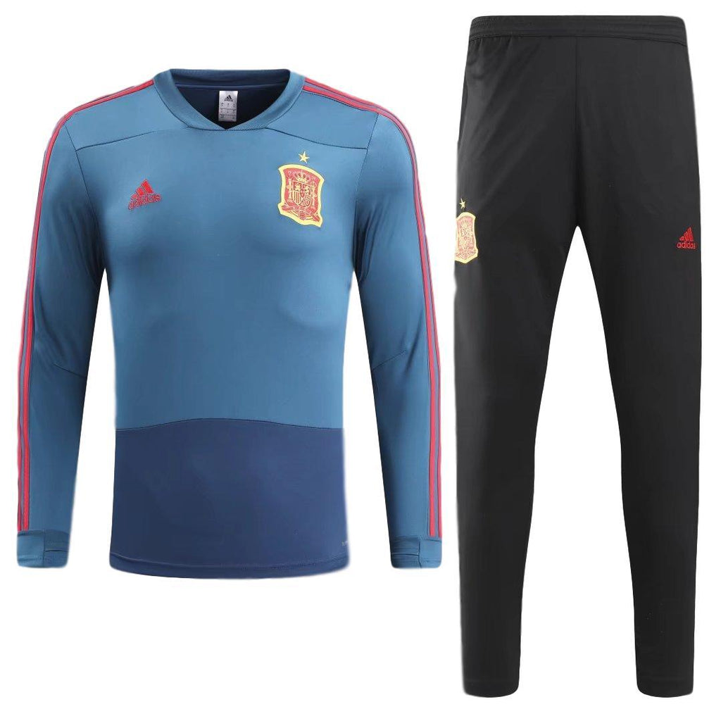 Spain 2018 Navy Blue Tracksuit Jersey TNT Soccer Shop