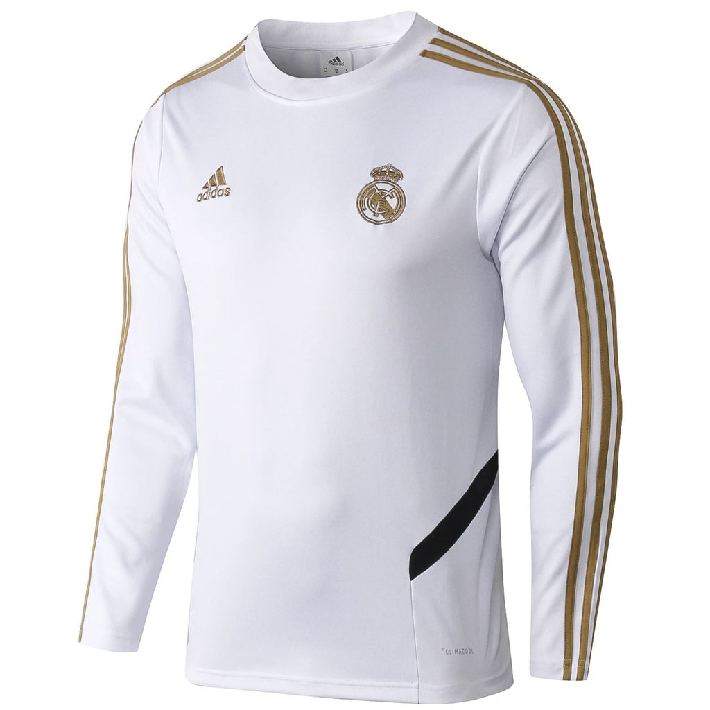 Real Madrid 19/20 White Tactical Training Top Tracksuit TNT Soccer Shop