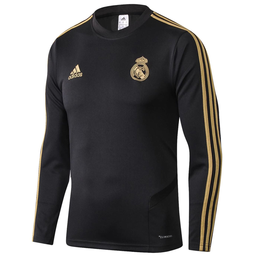 Real Madrid 19/20 Black Tactical Training Top Tracksuit TNT Soccer Shop