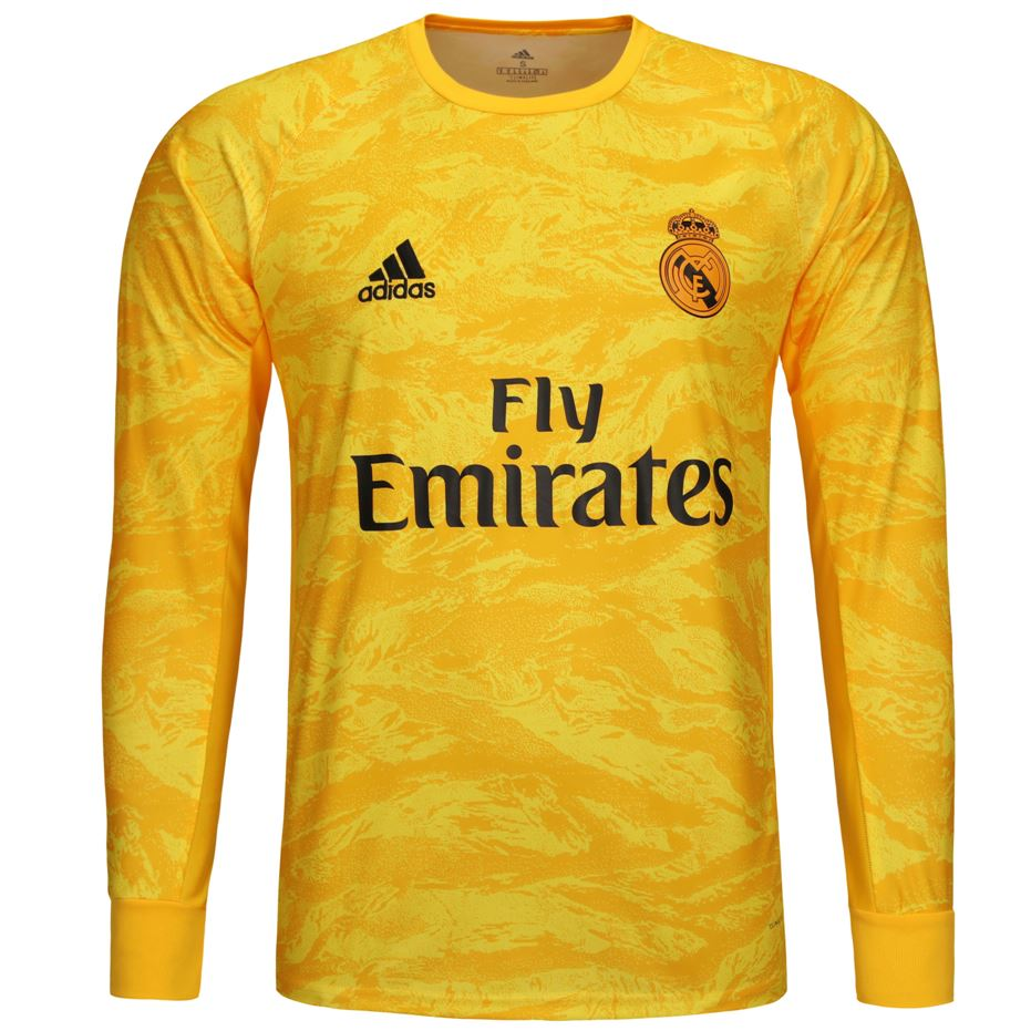 Real Madrid 19/20 Goalkeeper LS Jersey Personalized Long Sleeve Jersey TNT Soccer Shop