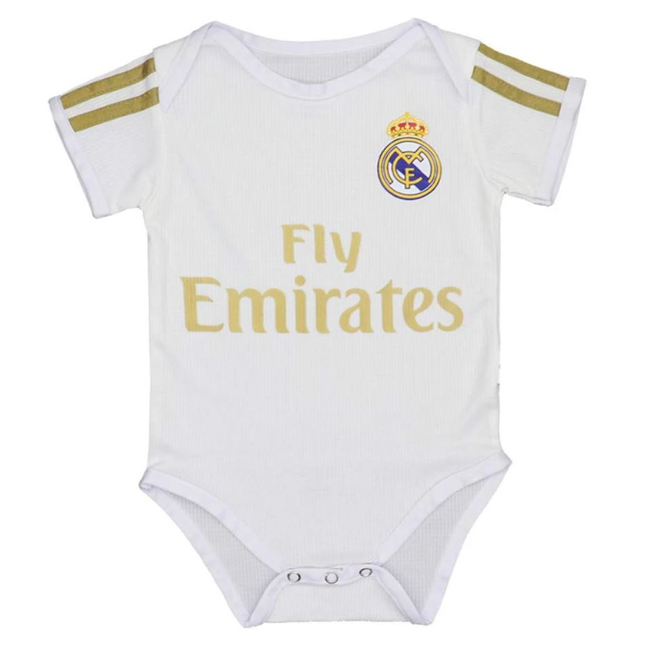 Real Madrid 19/20 Home Baby Onesie Baby Onesie TNT Soccer Shop