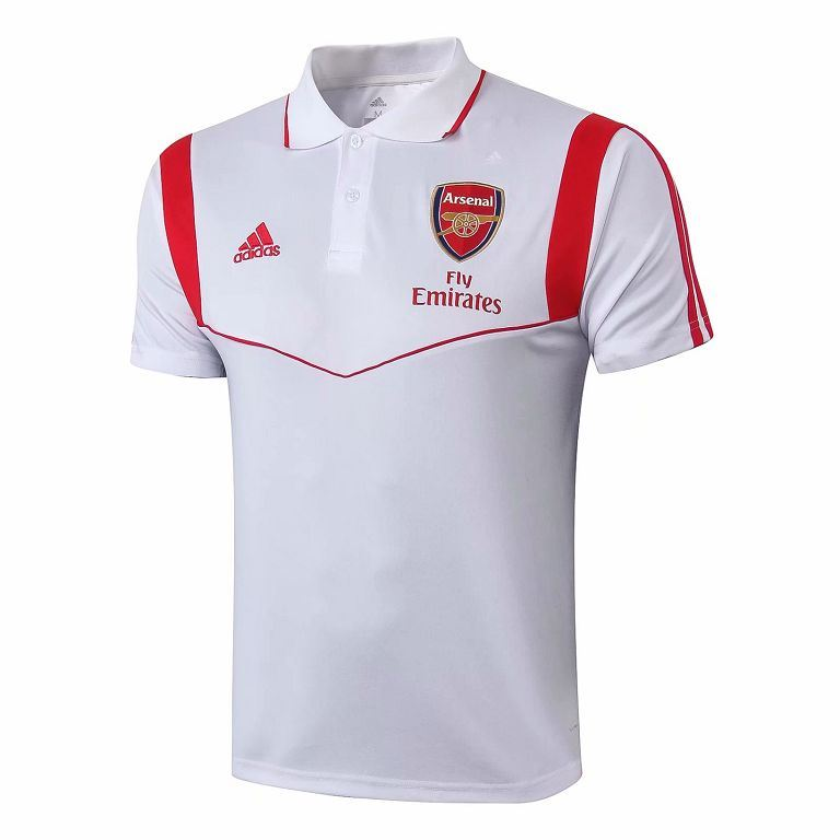 Arsenal 2019-2020 White Polo Jersey TNT Soccer Shop