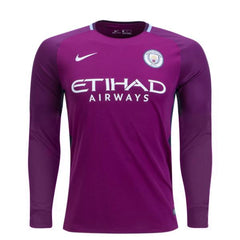 Man. City 17/18 Away LS Jersey Personalized