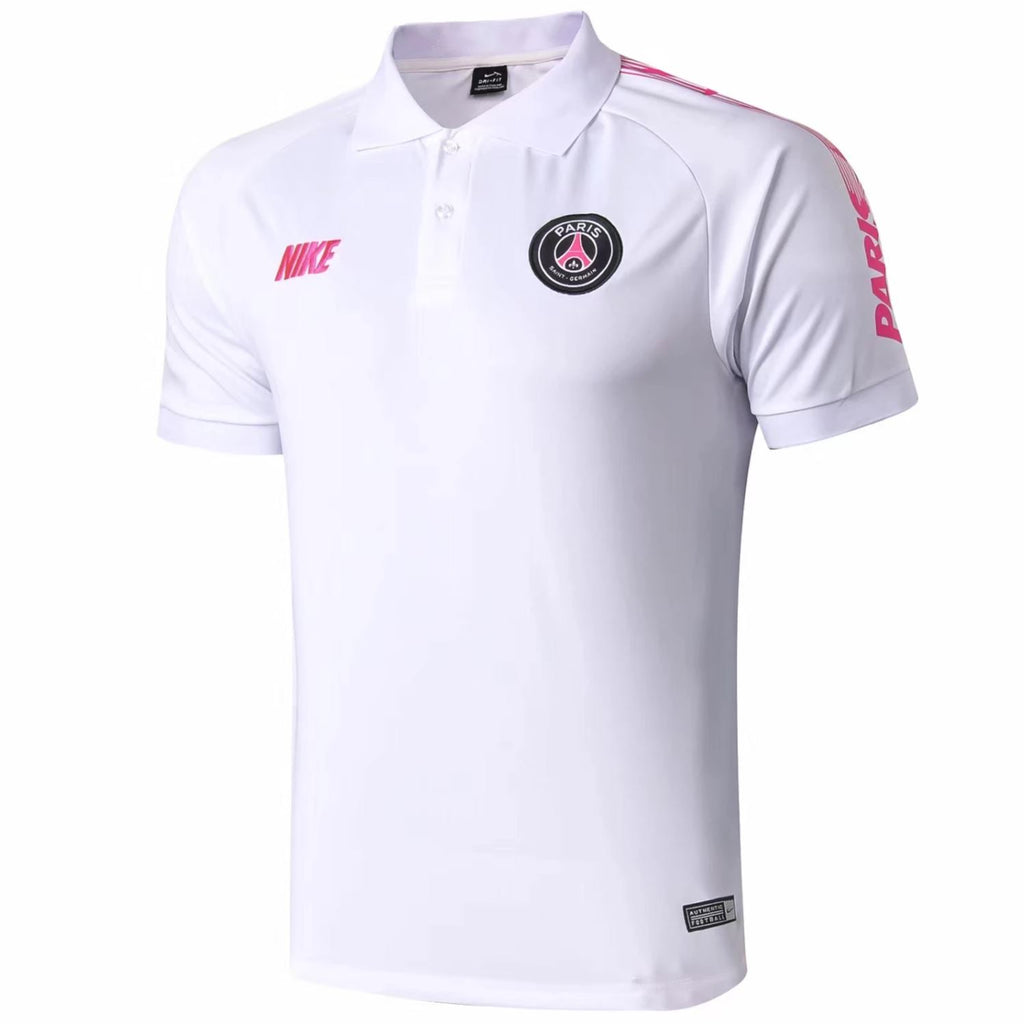 Paris Saint-Germain 19/20 White Pink Polo Polo TNT Soccer Shop