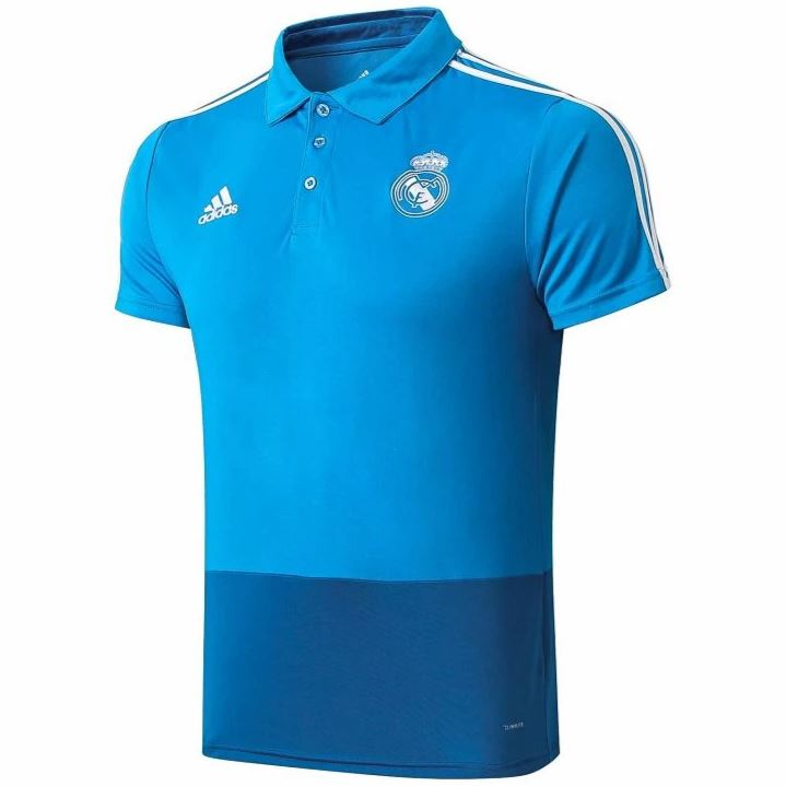 Real Madrid 19/20 Blue Presentation Polo Polo TNT Soccer Shop
