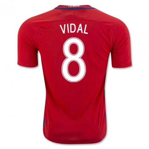 new concept 375a4 a432a Chile 2016 Home Jersey Vidal #8
