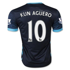 Manchester City 15-16 Away Jersey Kun Aguero #10 READY TO SHIP! - TNT Soccer Shop - 1