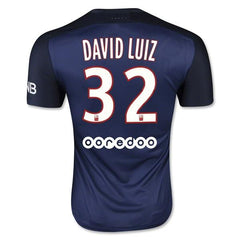 Paris Saint Germain 15-16 Home Jersey David Luiz #32 READY TO SHIP! Jersey TNT Soccer Shop