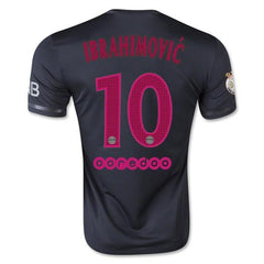 Paris Saint Germain 15-16 Third Jersey Ibrahimovic #10 READY TO SHIP! Jersey TNT Soccer Shop