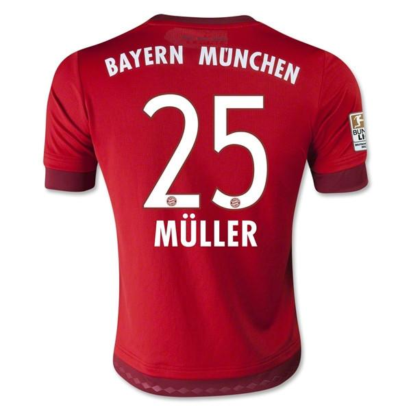 Bayern Munich 15-16 Home Jersey Muller #25 READY TO SHIP! - IN STOCK NOW - TNT Soccer Shop