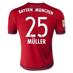 Bayern Munich 15-16 Home Jersey Muller #25 READY TO SHIP! Jersey TNT Soccer Shop