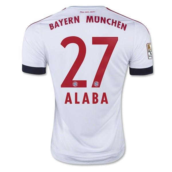 Bayern Munich 15-16 Away Jersey Alaba #27 UCL Patch READY TO SHIP! - IN STOCK NOW - TNT Soccer Shop