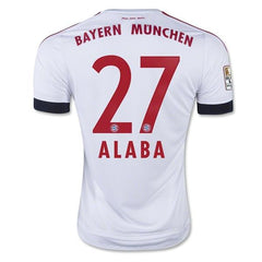 Bayern Munich 15-16 Away Jersey Alaba #27 UCL Patch READY TO SHIP! Jersey TNT Soccer Shop