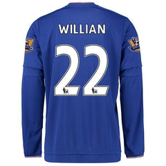 Chelsea 15-16 Home LS Jersey Willian #22 READY TO SHIP! Long Sleeve Jersey TNT Soccer Shop