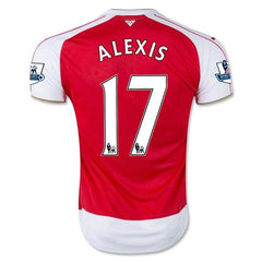 Arsenal 15-16 Home Jersey Alexis #17 Ready to Ship! Jersey TNT Soccer Shop
