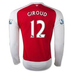 Arsenal 15-16 Home LS Jersey Giroud #12 Ready to ship! Long Sleeve Jersey TNT Soccer Shop