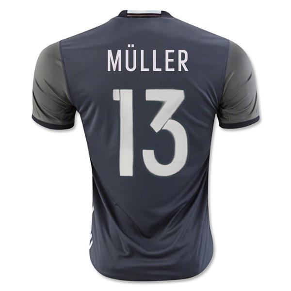 Germany 2016 Away Jersey Müller #13 READY TO SHIP! Jersey TNT Soccer Shop