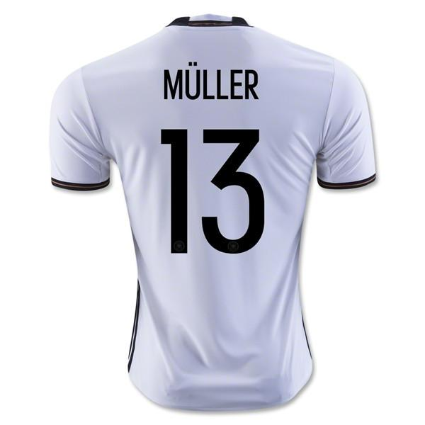 Germany 2016 Home Jersey Müller #13 - IN STOCK NOW - TNT Soccer Shop