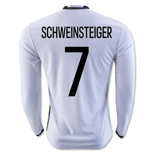 Germany 2016 Home LS Jersey Schweinsteiger #7 Long Sleeve Jersey TNT Soccer Shop