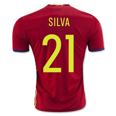 Spain 2016 Home Jersey Silva #21 Full Kit Ready to Ship! Jersey TNT Soccer Shop