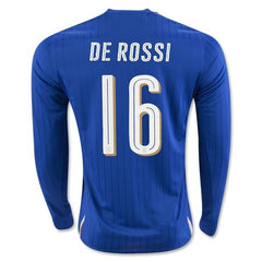 Italy 2016 Home LS Jersey De Rossi #16 - IN STOCK NOW - TNT Soccer Shop