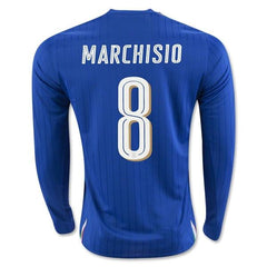 Italy 2016 Home LS Jersey Marchisio #8 - IN STOCK NOW - TNT Soccer Shop