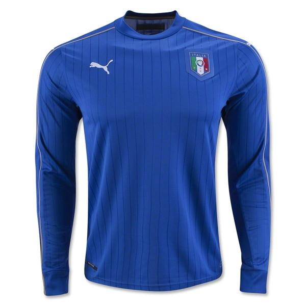 Italy 2016 Home LS Jersey Long Sleeve Jersey TNT Soccer Shop