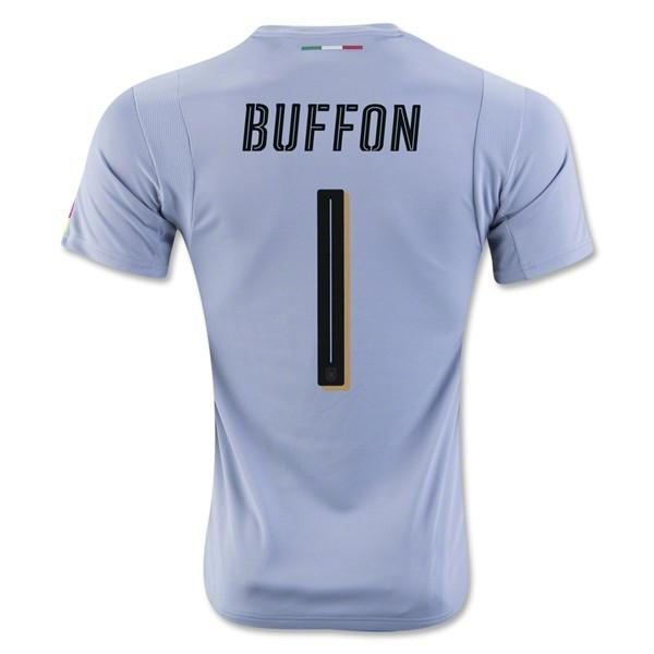 Italy 2016 GK Gray Jersey Buffon #1 - IN STOCK NOW - TNT Soccer Shop