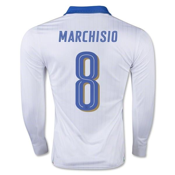 Italy 2016 Away LS Jersey Marchisio #8 Long Sleeve Jersey TNT Soccer Shop