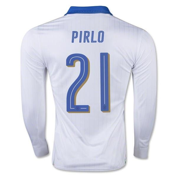 Italy 2016 Away LS Jersey Pirlo #21 - IN STOCK NOW - TNT Soccer Shop