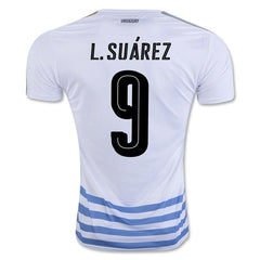 Uruguay 2016 Away Jersey L. Suarez #9 - IN STOCK NOW - TNT Soccer Shop