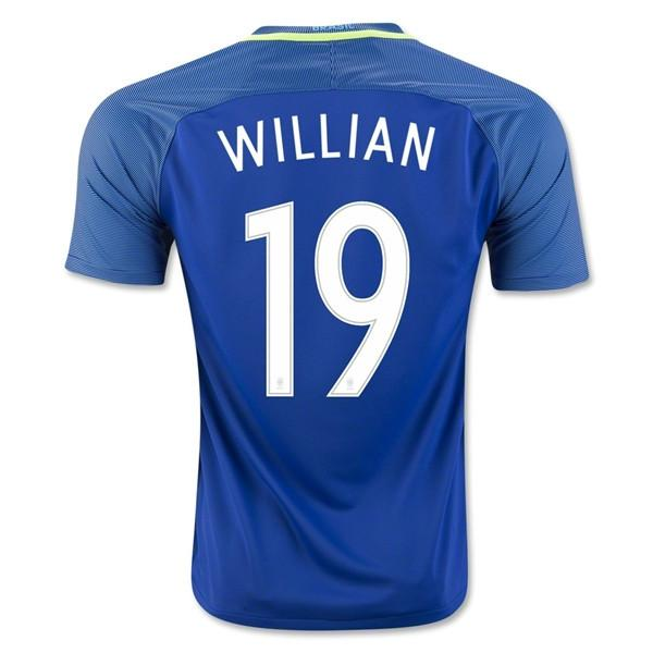 Brazil 2016 Away Jersey Willian #19 - IN STOCK NOW - TNT Soccer Shop