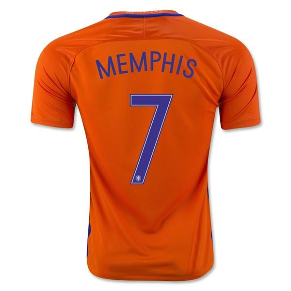 Netherlands 2016 Home Jersey Memphis #7 - IN STOCK NOW - TNT Soccer Shop