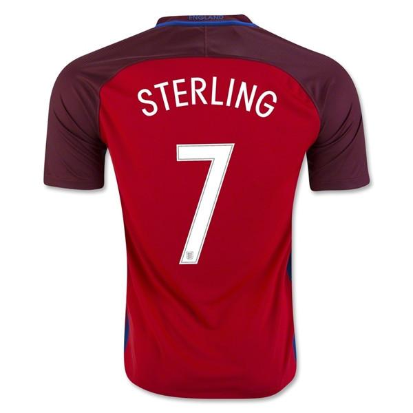 England 2016 Away Jersey Sterling #7 Jersey TNT Soccer Shop