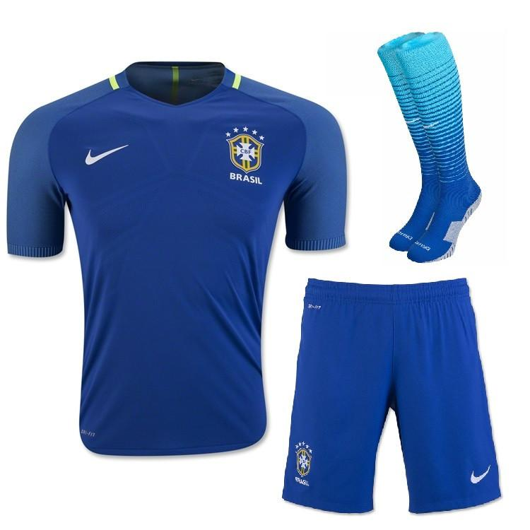 Brazil 2016 Away Full Kit Adult Kit TNT Soccer Shop