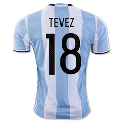 Argentina 2016 Home Jersey Tevez #18 - IN STOCK NOW - TNT Soccer Shop
