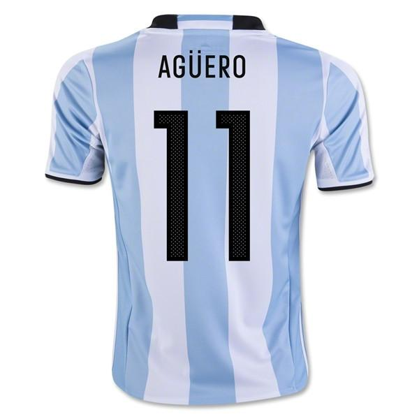 sports shoes d3cb8 5a2f1 Argentina 2016 Home Jersey Kun Agüero #11