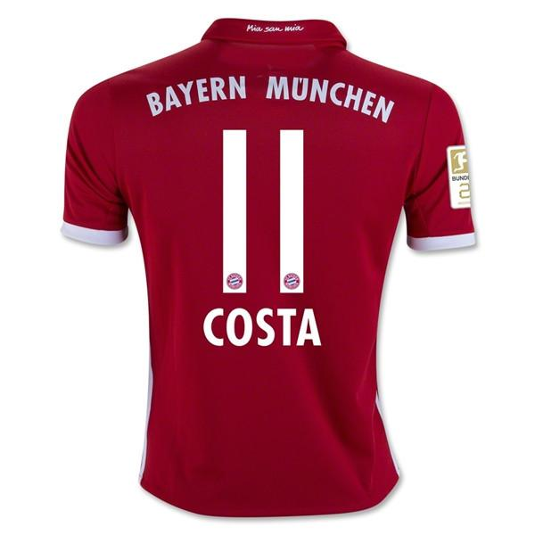 Bayern Munich 16/17 Home Jersey Costa #11 Jersey TNT Soccer Shop