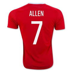 Wales 2016 Home Jersey Allen #7 - IN STOCK NOW - TNT Soccer Shop