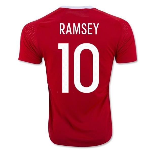 the best attitude 1ce5c a3169 Wales 2016 Home Jersey Ramsey #10
