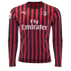 AC Milan 19/20 Home LS Jersey Personalized Jersey TNT Soccer Shop