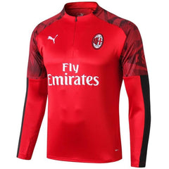 AC Milan 19/20 Red 1/4 Zip Training Top Tracksuit TNT Soccer Shop