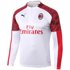 AC Milan 19/20 White 1/4 Zip Training Top Tracksuit TNT Soccer Shop S No