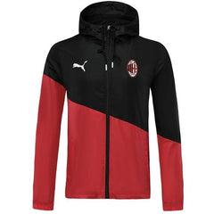 AC Milan 19/20 Red Split Winter Bench Jacket Jacket TNT Soccer Shop