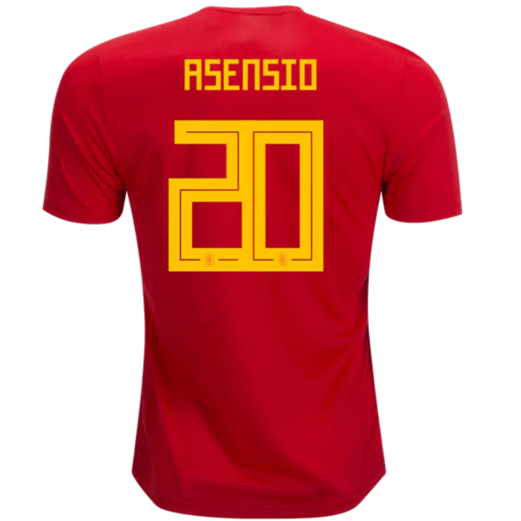 27ab9146883 Spain 2018 Home Jersey Marco Asensio  20 - IN STOCK NOW - TNT Soccer Shop