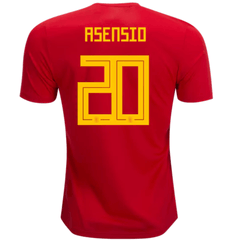 Spain 2018 Home Jersey Marco Asensio #20 - IN STOCK NOW - TNT Soccer Shop