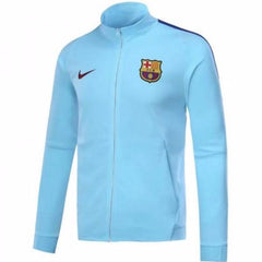 Barcelona 17/18 Light Blue Jacket - IN STOCK NOW - TNT Soccer Shop