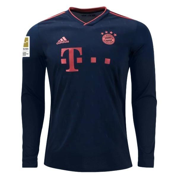 Bayern Munich 19/20 Third LS Jersey Personalized Long Sleeve Jersey TNT Soccer Shop S Bundesliga No