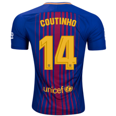 Barcelona 17/18 Home Jersey Coutinho #14 - IN STOCK NOW - TNT Soccer Shop